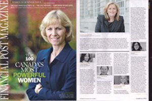Financial Post Magazine: Up With Women CEO Named one of Canada's 100 Most Powerful Women